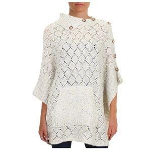 NWT Democracy sweater poncho XL